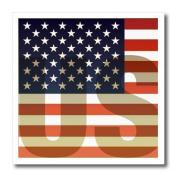 Kike Calvo Flags - Unites States American Flag with US watermark - Iron on Heat Transfers