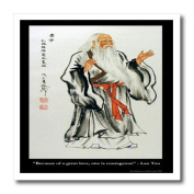 Rick London Famous Love Quote Gifts - Lao Tzu Because of great love one is courageous - Iron on Heat Transfers