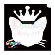 Glimmer Body Art Glitter Tattoos - Royal Kitty Cat
