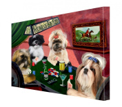 House of Shih Tzus Dogs Playing Poker Canvas 16 x 20