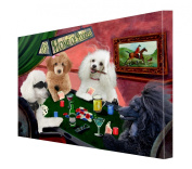 House of Poodles Dogs Playing Poker Canvas 16 x 20