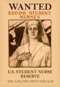 Wanted 25 000 Student Nurses 28x42 Giclee on Canvas