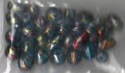 35pc Metallic Swirl Mix Teal Beads - Fashion Glass by Cousin - #52811-03