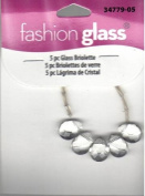 5 pc Clear Glass Briolette Beads - Fashion Glass by Cousin - #34779-05