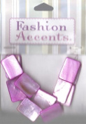 11 pc Rose Pink 14x19 Rectangle Beads - Fashion Accent by Cousin - #3475013