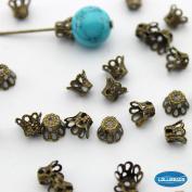Antique Brass Bronze Filligree Bead Caps