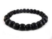 Thai Buddhist Wooden Prayer Blessed Beads Mala Black colour Wristband Bracelet from Thailand