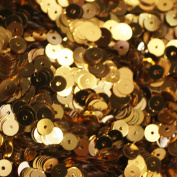 5mm FLAT SEQUINS GOLD Loose sequins for embroidery, applique, arts, crafts, and embellishment