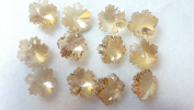 14mm Champagne Snowflakes Chandelier Crystals Prism Beads Pack of 12