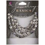 Jewellery Basics Metal Beads 10mm 40/Pkg-Silver 5 Petal Flower