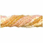 Jewellery Basics Glass Seed Bead Mix 90g-Peach