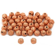 Round Bali Beads Copper Plated Beading 5mm Approx 50