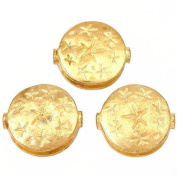 Fluted Star Disc Beads Gold Plated 18.5mm New Approx 3