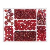 Darice® Jewellery Designer Big Value Glass Bead Box Assortment - Red