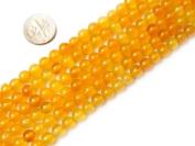 "6mm 8mm 10mm 12mm 14mm Round Yellow Agate Beads Strand 15"" Jewellery Making Beads"