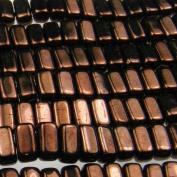 Czechmate 2mm X 6mm Brick Glass Czech Two Hole Bead - Dark Bronze