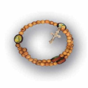 Olive Wood Chaplet Braclet- Oval Beads