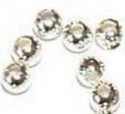 2mm 1,000 Round Silver Plated Beads -P2-1000