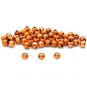 50 Round Ball Beads Copper Plated Jewellery Beading 4mm