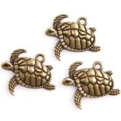 45pcs Antique Bronze Turtle Alloy Charms Findings