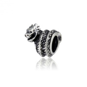 WithLoveSilver Solid Sterling Silver 925 Cute Lovely Wrap Dragon Bead for European Pandora Chamilia Biagi Charm Bracelets