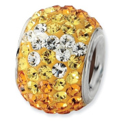 Sterling Silver Yellow Graduated Crystal Bead