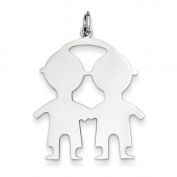 Sterling Silver Engraveable Boy Boy Disc Charm - JewelryWeb