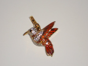 Juicy Couture Gold HUMMINGBIRD CHARM with Moving Wings; Coloured Enamel and Rhinestones in Juicy Gift Box