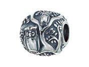 Zable(tm) Sterling Silver Owls In Tree Bead / Charm