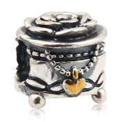 Beads and Dangles European charm sterling silver bead jewellery box-Fit All Brands Silver Plated Bracelets Beads Charms