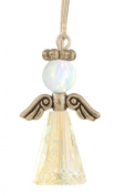 . Crystal Birthstone Angels - Sterling Silver - October Stone