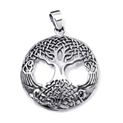 Amazing Rare Celtic Tree of Life Sterling Silver Pendant