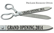 """Pre-Laser Engraved """"GRAND OPENING 5120cm 38cm Chrome Plated Ceremonial Ribbon Cutting Scissors"""