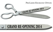 """Pre-Laser Engraved """"GRAND RE-OPENING 5120cm 38cm Chrome Plated Ceremonial Ribbon Cutting Scissors"""