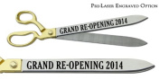 """Pre-Laser Engraved """"GRAND RE-OPENING 5120cm 50cm Gold Plated Handles Ceremonial Ribbon Cutting Scissors"""