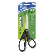 Wholesale CASE of 20 - Acme Kleenearth Stainless Steel Shears-Stainless Steel Shears, 20cm Straight, Contoured Black Handles
