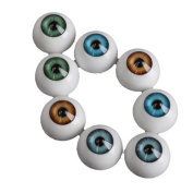 Generic 20mm Half Round Acrylic Doll Bear Craft Plastic Eyes Eyeball For Halloween