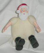 Mini Santa Claus Resin/Muslin Craft Doll, 10cm x 7.6cm