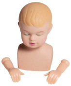 Adorable Vinyl Baby Jesus Doll Head & Hands for Your Christmas Nativity Craft Project or Other Doll Making.- Package of 6