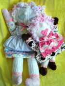 "Cloth, Plush Minky Soft Soft Rag Type Doll in Two Sizes w/ Instruction CD/127/ ""Dinky Doodles"" 14' & 50cm Dolls -Made from Minky Fabrics"