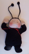 Cloth Soft Sculpture Ladybug Baby Doll Pattern with Instruction CD/085/- Becca 30cm - Make a Red & Black from Craft Velour