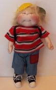 Cloth Soft Sculpture Pattern w/ Instruction CD/044/ - Lil Anthony 38cm Doll -Boy Doll/Jeans & Shirt/Doll from Windsor Fabric /Craft Velour