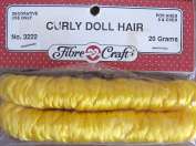 Fibre Craft CURLY DOLL HAIR 20 Grammes (Approx. .2100ml) YELLOW BLONDE Colour