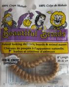 One & Only Craft DOLL HAIR Beautiful BRAIDS 20cm Braid DARK BLONDE Colour 100% CREPE MOHAIR