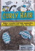 One & Only Craft MINI CURL Curly DOLL HAIR .1480ml (14 Grammes) Colour DARK BROWN Colour PREMIUM Quality