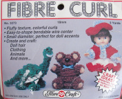 Fibre Craft fibre CURL DOLL HAIR 18mm w SMALL DIAMETER Bendable WIRE Centre 3 YARDS