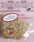 WIMPOLE Craft DOLL FRINGE HAIR Sewn on a RIBBON Size SMALL Colour BLONDE (Strawberry Blond)