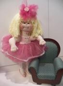 Cloth Soft Sculpture Ballerina Doll Pattern-Instructions on Paper/017/ - Bobbi the Ballerina Stands on Toe-60cm tall-Yarn Hair