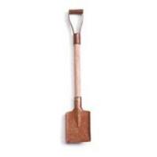 12 Mini Rusted Metal Blade & Wood Handle Snow Shovels - 7.6cm - 1.9cm Long