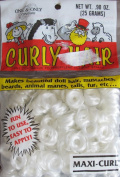 One & Only Craft MAXI CURL Curly DOLL HAIR Pack .2660ml (25 Grammes) WINTER WHITE Colour
